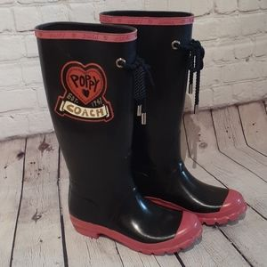 Wore 2x COACH sz 7 rainboots, $275.00